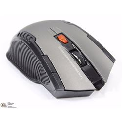 NEW GREY WIRELESS OPTICAL MOUSE