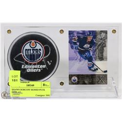 SHAWN HORCOFF SIGNED PUCK DISPLAY