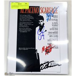 SIGNED SCARFACE MOVIE POSTER