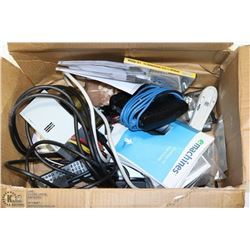 LOT OF COMPUTER PARTS, CABLES AND MORE
