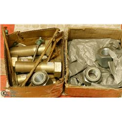 2 BOXES OF ASSORTED INDUSTRIAL NUTS & BOLTS
