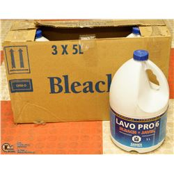 CASE OF 3 JAVEL BLEACH 5L EACH
