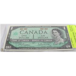 CANADIAN 1 DOLLAR CENTENNIAL  BANK NOTE