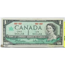 CANADIAN CENTENNIAL $1 DOLLAR BILL