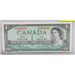 1954 CANADIAN $1.00 BANKNOTE UNC.