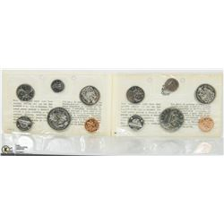 SET OF 1969 & 1970 PROOF LIKE COIN SETS.