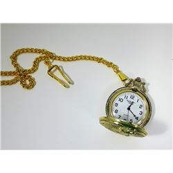 #2 - GOLD TONE EAGLE POCKETWATCH