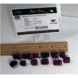 #4 - LOT OF 180.6 CT RUBY & SAPPHIRE GEMSTONES