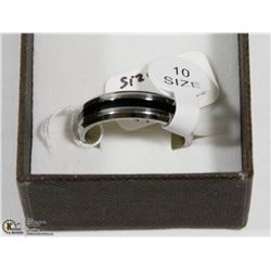 STAINLESS STEEL RING SIZE 10.