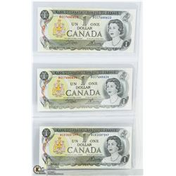 CANADIAN 1973 DOLLAR BILL SET.