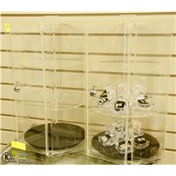 TWO JEWELRY DISPLAY CASES WITH CONTENTS
