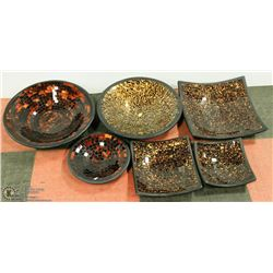 LARGE COLLECTION OF MOSAIC CENTERPIECE BOWLS