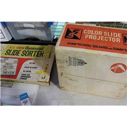SLIDE PROJECTOR AND SORTER