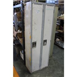 TWO BANK METAL LOCKER