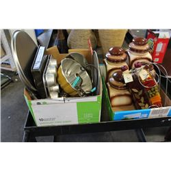LOT OF BAKEWARE AND CANNISTERS