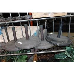 FOUR HEAVY PATIO UMBRELLA STANDS