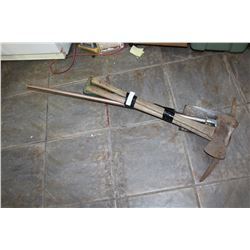 PICK AXE EDGER AND SHOVEL