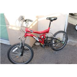 RED REVOLUTION FULL SUSPENSION YOUTH BIKE