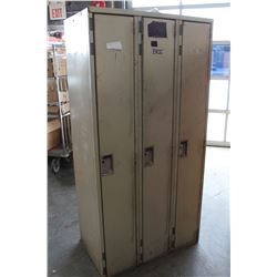 THREE BANK METAL LOCKER