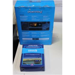 NEW OVERSTOCK SIRIUS SATELLITE RADIO SPORTSTER 6 RADIO AND VEHICLE KIT WITH FM DIRECT ADAPTER