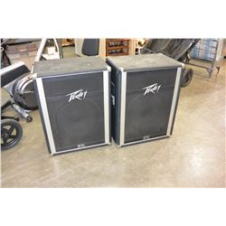 PAIR OF PEAVEY INTERNATIONAL 115 150WATT PROFESSIONAL STAGE SPEAKERS, WORKING