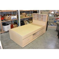 MAPLE SINGLE SIZE BEDFRAME WITH UNDERBED STORAGE