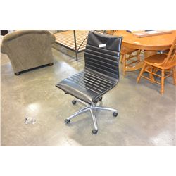 ROLLING BLACK MODERN GAS LIFT OFFICE CHAIR