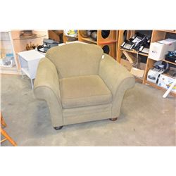 ROLLED ARM UPOLSTERED ARMCHAIR