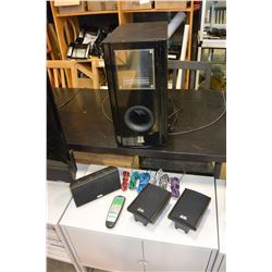 TF SURROUND SOUND SYSTEM BUILT IN SUB, W/REMOTE