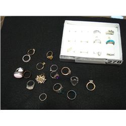 STERLING RINGS AND ASSORTED RINGS