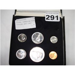 ROYAL CANADIAN MINT SILVER DOLLAR SET 1967