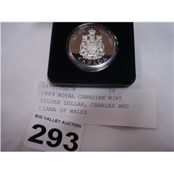 1983 ROYAL CANADIAN MINT SILVER DOLLAR, CHARLES AND DIANA OF WALES