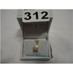 14KT YELLOW GOLD SOUTH SEA PEARL AND DIAMOND PENDANT RETAIL $250.00