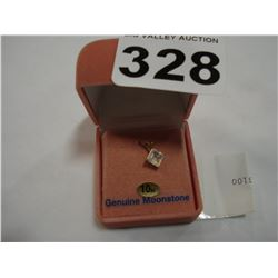 10KT YELLOW GOLD GENUINE MOONSTONE PENDANT RETAIL $100