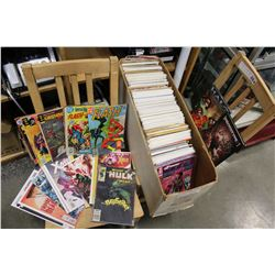 LARGE BOX OF COLLECTIBLE COMICS MARVEL XMEN AND OTHERS