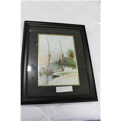 SIGNED AND DATED WATER COLOR OF SAILBOATS