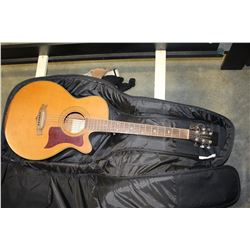 TANGLEWOOD ELECTRIC ACOUSITC GUITAR, MADE IN UNITED KINGDOM, MODEL TW-145SC WITH SOFT CASE