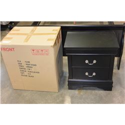 PAIR OF NEW AVENZA BLACK NIGHTSTANDS RETAIL $249 EACH