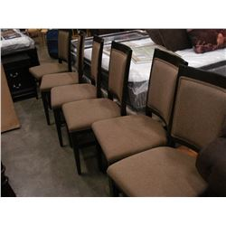 SET OF 6 MODERN UPHOSTERED DINING CHAIRS