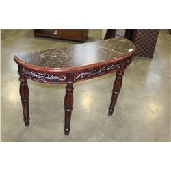 NEW MARBLE LOOK SOFA TABLE