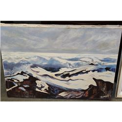 SIGNED OIL PAINTING BY HAMYA