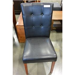 LEATHER BUTTON BACK DINING CHAIR
