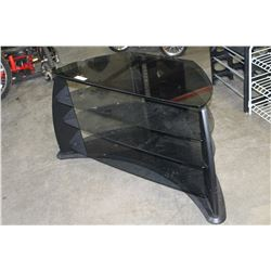 3 TIER GLASS ENTERTAINMENT STAND