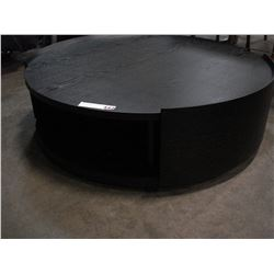 NEW BLACK SWIVEL COFFEE TABLE WITH STORAGE