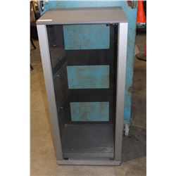 GLASS DOOR STEREO CABINET