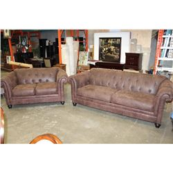BUTTONBACK MICRSEUDE ASHLEY SOFA AND LOVESEAT