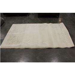 5 FOOT BY 8 FOOT CARVED AREA CARPET
