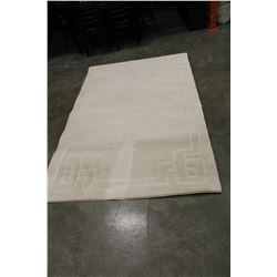 5 FOOT BY 8 FOOT CARVED AREA RUG CANADIAN MADE