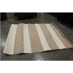 6 FOOT BY 8 FOOT STRIPED AREA CARPET
