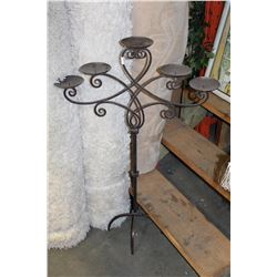 LARGE FIVE BANCH IRON CANDLESTAND